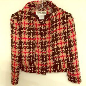 Carlisle wool boulcle cropped jacket